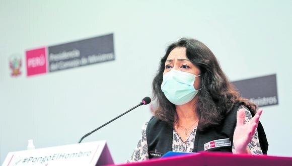 Violeta Bermúdez se pronunció sobre la reunión entre el presidente Francisco Sagasti y las exministras el pasado 21 de enero. (Foto: PCM)