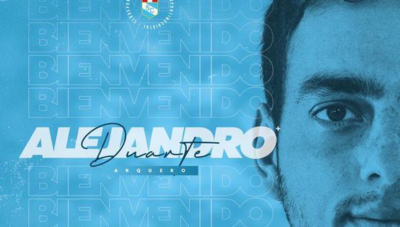 Duarte competirá con Renato Solís y Emile Franco por el titularato en el arco celeste. (Foto: Sporting Cristal)