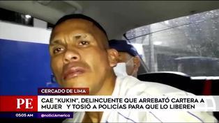 Capturan a sujeto que arrebató una cartera a mujer en el Cercado de Lima