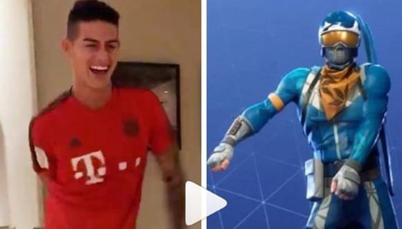James Rodríguez en un momento de distensión en la concentración del Bayern Múnich. (Video YouTube)