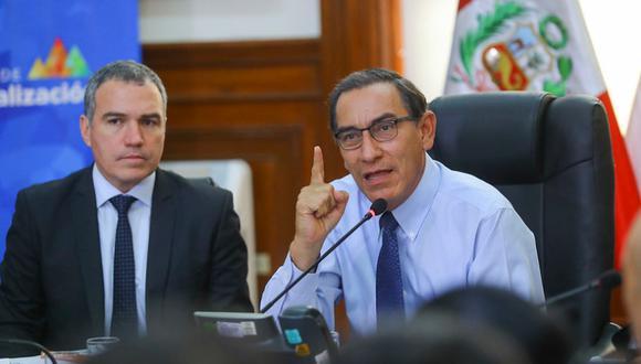 Al cumplir un año de gestión, el 41% de la población evaluaba mal o muy mal la gestión de Vizcarra. (Foto: Prensa Palacio)
