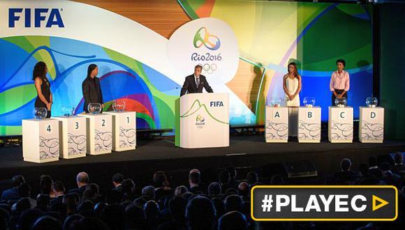 Río 2016: así quedaron conformados los grupos en fútbol [VIDEO]