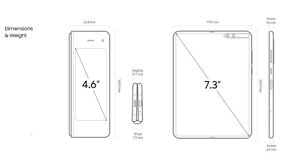 Samsung Galaxy Fold - Especificaciones 1