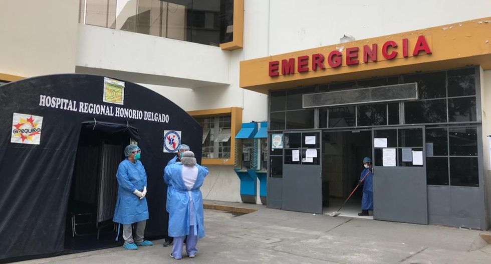 Área de Emergencia del Hospital Honorio Delgado no funcionará durante 48 horas por caso positivo de COVID-19 (Foto: Zenaida Condori)