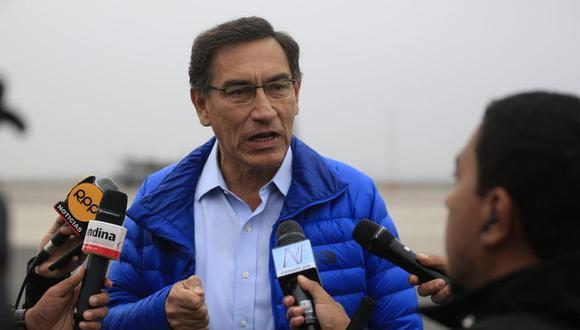 El presidente Martín Vizcarra comentó la decisión del TC durante una visita a Piura. (Foto: Difusión)