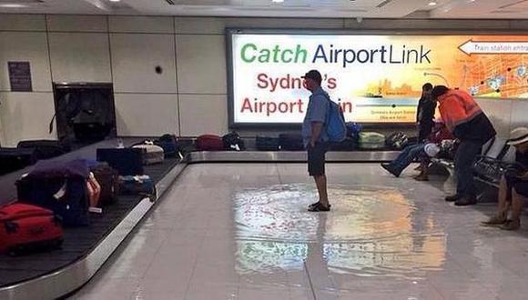 Aeropuerto de Sidney quedó inundado [FOTOS]