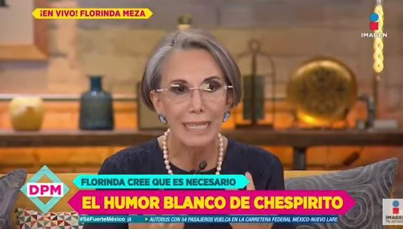 """Florinda Meza sobre la falta de acuerdo entre Televisa y la familia Gómez: """"Estoy fuera de eso por una extraña razón"""". (Foto: captura de video)"""