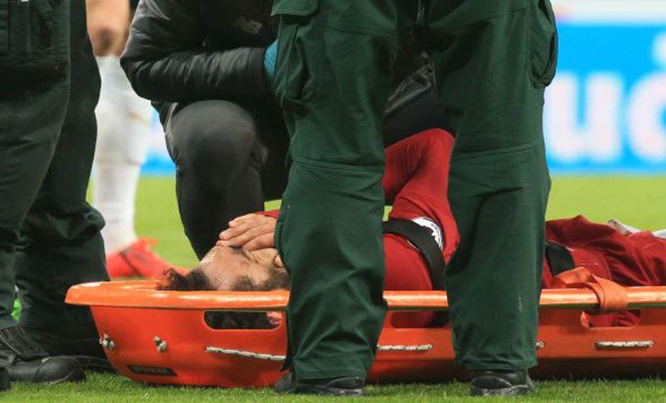 Mohamed Salah tuvo que ser cambiado por una lesión en duelo ante Newcastle. (Captura: AFP)