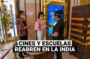 La India autoriza la reapertura de escuelas y cines por primera vez desde marzo