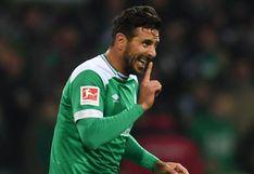 ¿Pizarro jugó su último partido con Werder Bremen?: el peruano podría perderse la serie por la permanencia