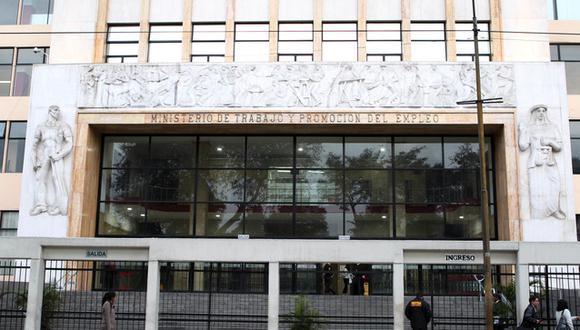El Ministerio de Trabajo y Promoción del Empleo (MTPE). (Foto: MTPE)
