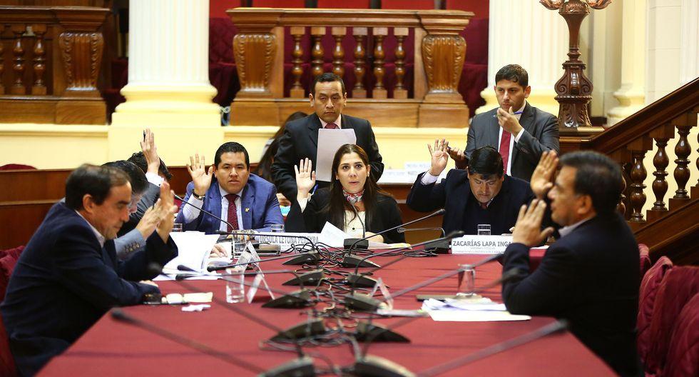 Comisión de Constitución del Parlamento aprobó por unanimidad un informe de opinión consultiva. (Foto: Congreso)