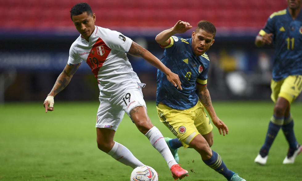 Perú y Colombia chocaron en el Mané Garrincha por el tercer puesto de la Copa América 2021   Foto: AFP
