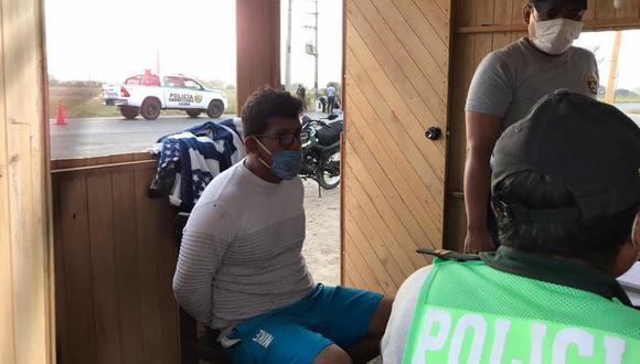 Tras una rápida intervención, los agentes de la PNP lograron intervenir a los conductores causantes de la muerte del suboficial Ávalos.