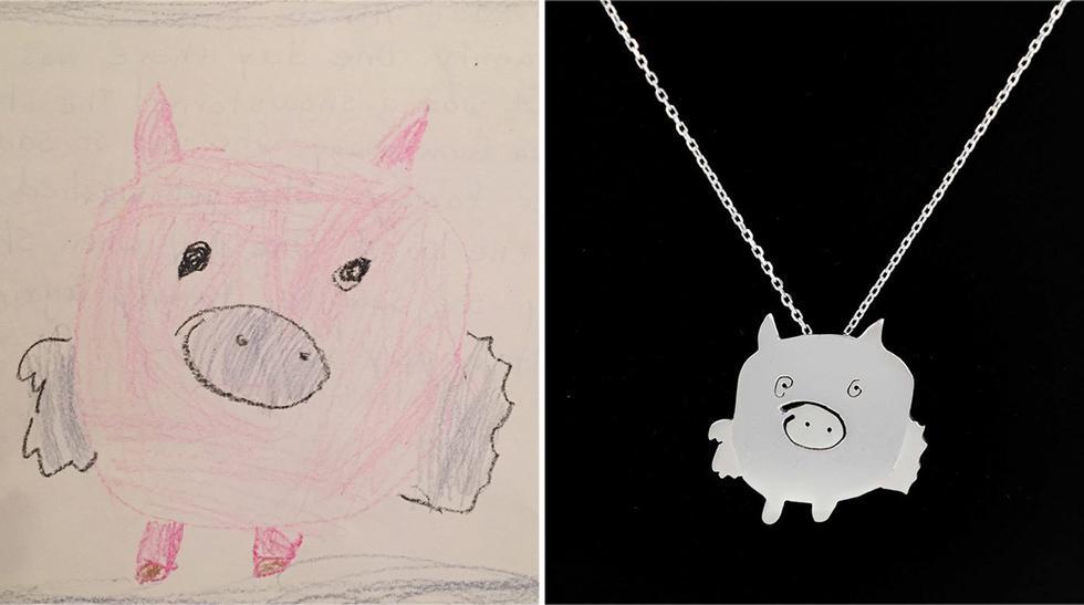 Lleva los dibujos de tus hijos siempre contigo con estas joyas - 2
