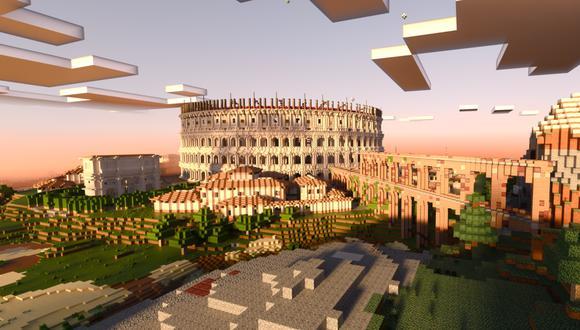 Minecraft Colosseum RTX con trazado de rayos. (Difusión)