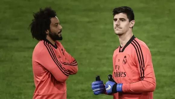Thibaut Courtois y Marcelo no jugarán la vuelta de la Champions League con el Real Madrid por estar lesionados. (Foto: Agencias)