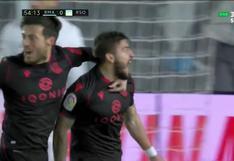 Real Madrid vs. Real Sociedad: el golazo de cabeza de Portu para festejar el 1-0 de la visita | VIDEO