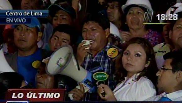 Mineros ilegales en Lima no reconocen a dirigentes en la PCM