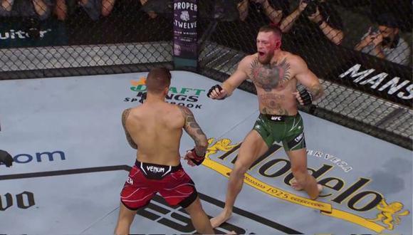 El peleador irlandés perdió luego de que el médico detuviera la lucha por la lesión que sufrió en el segundo asalto