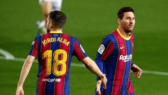 Jordi Alba espera que Messi no se retire del Barcelona la próxima temporada (Foto: EFE)