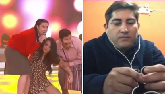 Walter Obregón aceptó entrevista donde no quiso hablar de la denuncia de violencia y Mariella Zanetti sufrió descompensación. (Foto: Captura América TV / ATV).