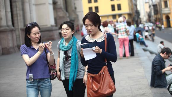 Turistas chinos. (Foto: GEC)