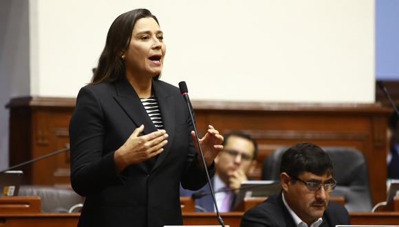La congresista de Fuerza Popular, Karla Schaefer, interviene en un debato en el Pleno del Congreso el pasado 16 de mayo del 2019. (Foto: Congreso).