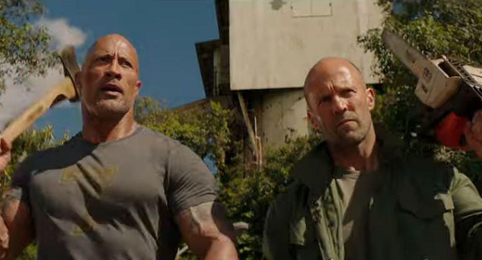 Dwayne Johnson y Jason Statham revelaron que la buena química entre ellos fue vital en el desarrollo de la película. (Foto: Captura de video)