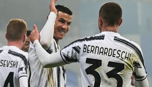 Juventus se llevó la Supercopa de Italia ante Napoli gracias a goles de Cristiano y Morata. | Foto: AFP