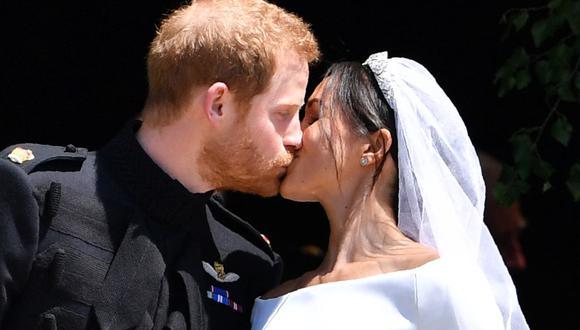 La boda de Meghan Markle y el príncipe Harry se celebró el 19 de mayo de 2018 en la Capilla de San Jorge del Castillo de Windsor (Foto: AFP)