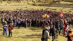 """""""Espacio de diálogo y cumplimiento de compromisos para el desarrollo en la zona de influencia del proyecto minero Las Bambas"""" (Foto: Andina)"""
