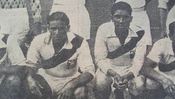 Teodoro Fernández y Alejandro Villanueva de blanquirrojos. (Foto: Archivo Histórico El Comercio)