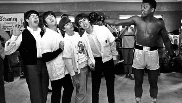 Muhammad Ali con The Beatles.