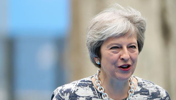 La primera ministra británica, Theresa May, publicó su plan para el Brexit. (Foto: AFP)