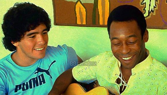 Maradona y Pelé, dos de los más grandes de todos los tiempos. (Foto: Instagram Maradona)