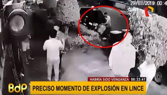 La fuerte explosión que alarmó a los vecinos ocurrió en la cuadra 3 del jirón Torre Ugarte, en el distrito de Lince  (Captura: Buenos Días Perú)