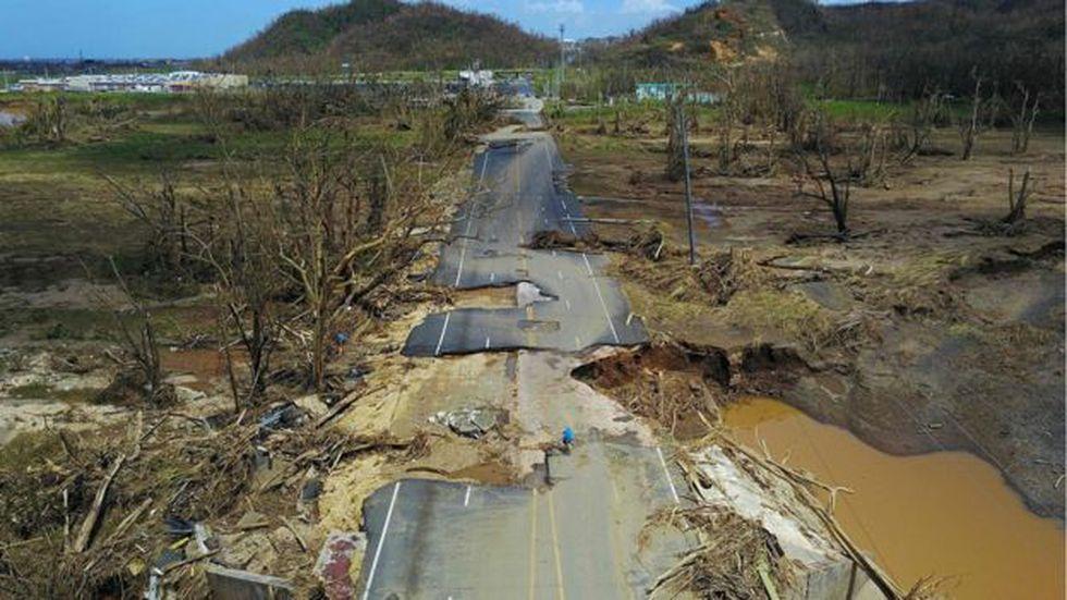 Puerto Rico fue uno de los territorios peor azotados por María, tras el paso del huracán Irma. Foto: AFP, vía BBC Mundo