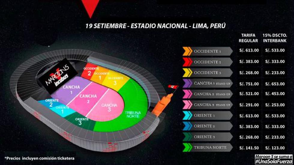 Maroon 5 en Lima: conoce los precios de las entradas - 2