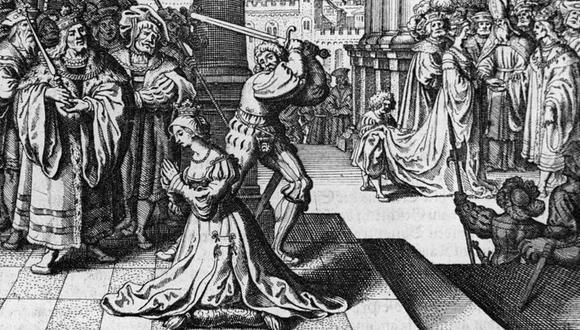 Un verdugo francés fue traído especialmente a Londres para ejecutar a Ana Bolena con una espada. (Foto: Getty Images, vía BBC Mundo).