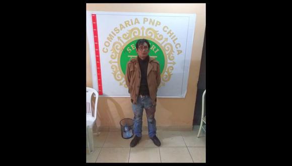 El agresor se encuentra recluido en la Dirección de Investigaciones de Huancayo (Foto: PNP)