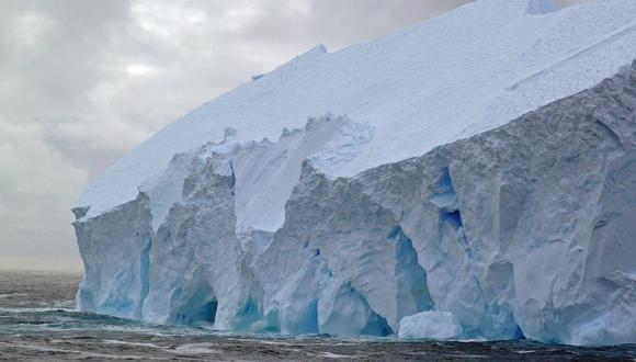 Frente de hielo en la Antártida.(Universidad de Harvard)