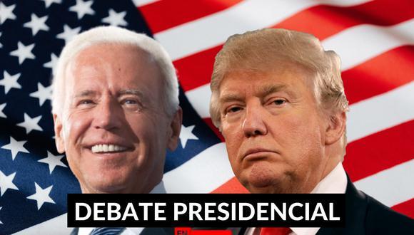 Donald Trump y Joe Biden protagonizan el debate presidencial de cara a las elecciones 2020 a la Presidencia de los Estados Unidos. | Crédito: Composición