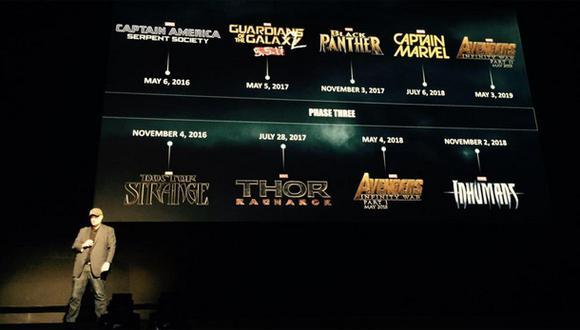 Marvel anunció las películas que conformarán su Fase 3