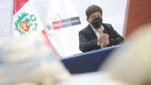 """""""Nuestro presidente [Castillo] tuvo una reunión con el presidente Maduro para solucionar crisis migratoria. Si al canciller o a su adjunto no le gusta tienen las puertas abiertas"""", refirió Bellido. (Foto: PCM)"""