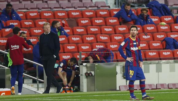 Ronald Koeman elogió a Lionel Messi y espera que continúe en el Barcelona. (Foto: AP)