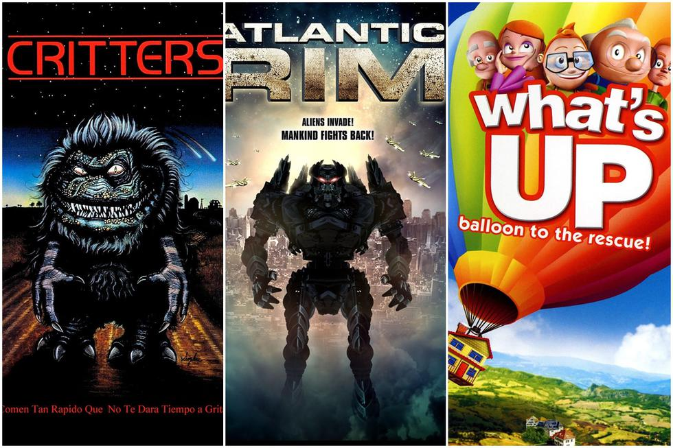 """""""Critters"""", """"Atlantic Rim"""" y """"What's Up: Balloon to the Rescue!"""" (Foto: New Line Cinema/The Asylum/Video Brinquedo)"""
