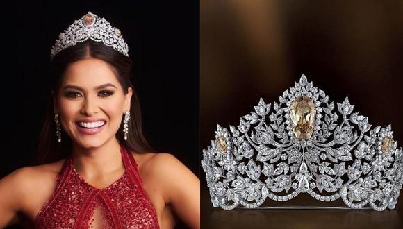 Andrea Meza se alzó con el título de belleza universal en el Miss Universo y una corona llena de diamantes. (Foto: @ missuniverse @mouawad / Instagram)