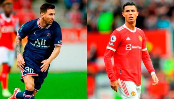 Lionel Messi y Cristiano Ronaldo juegan en Francia e Inglaterra, respectivamente | Foto: EFE.