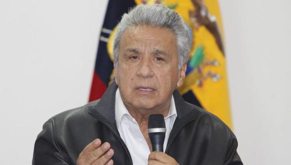 """""""He convocado a reunión urgente del COE (Comité de Operaciones de Emergencia) Nacional a realizarse mañana (lunes)"""", escribió Moreno en su cuenta de Twitter. (Foto: EFE/Presidencia Ecuador)."""